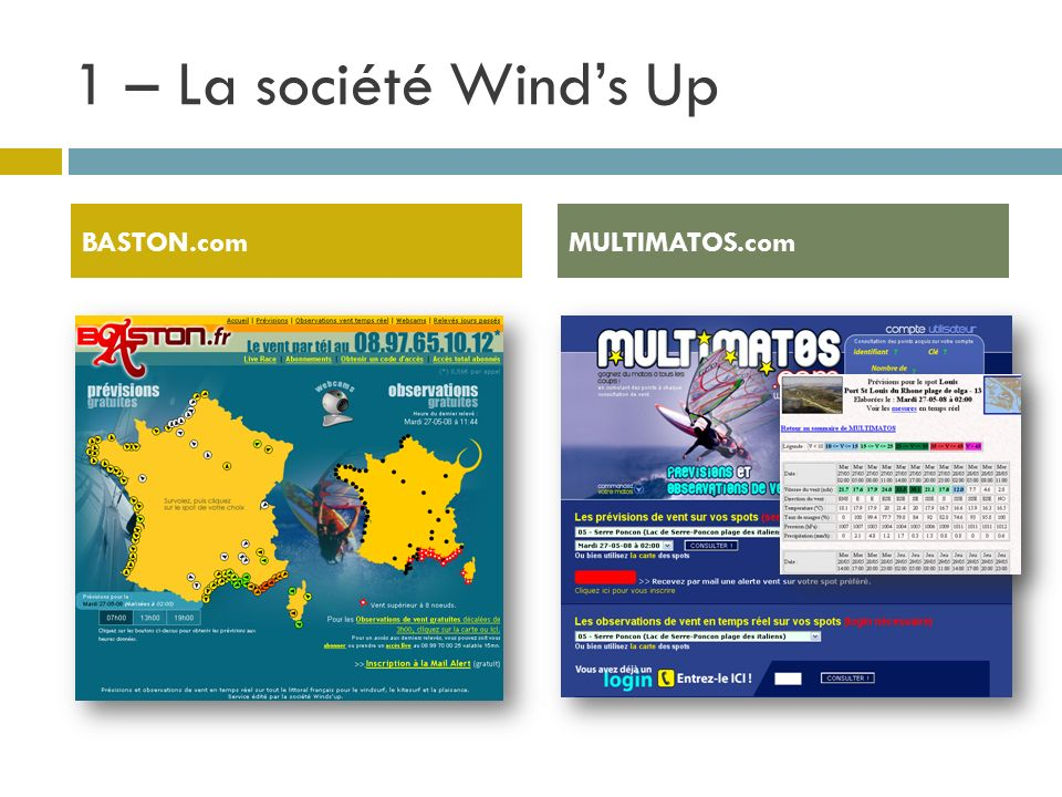 1 – La société Wind's Up BASTON.com MULTIMATOS.com