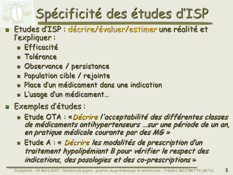 Spécificité des études d'ISP