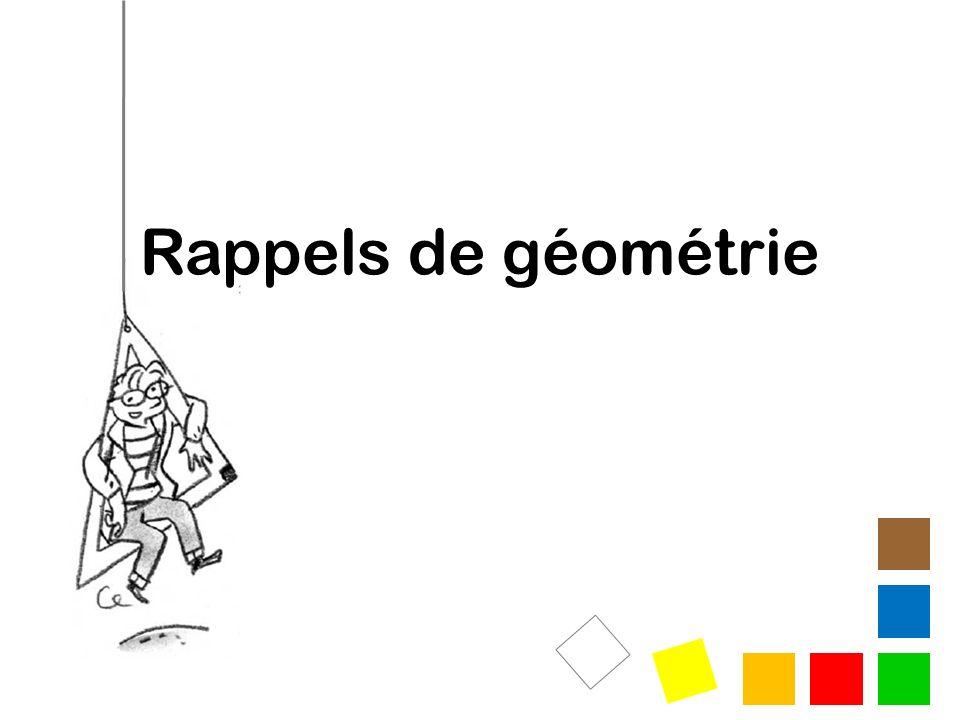 Rappels de géométrie