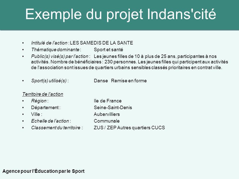 Exemple du projet Indans cité