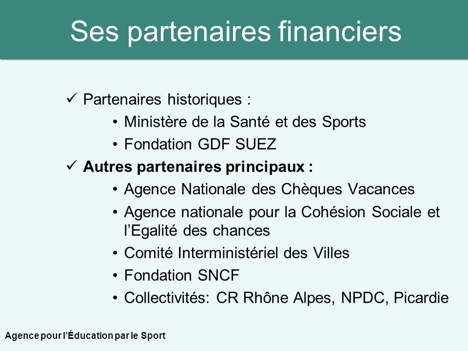 Ses partenaires financiers