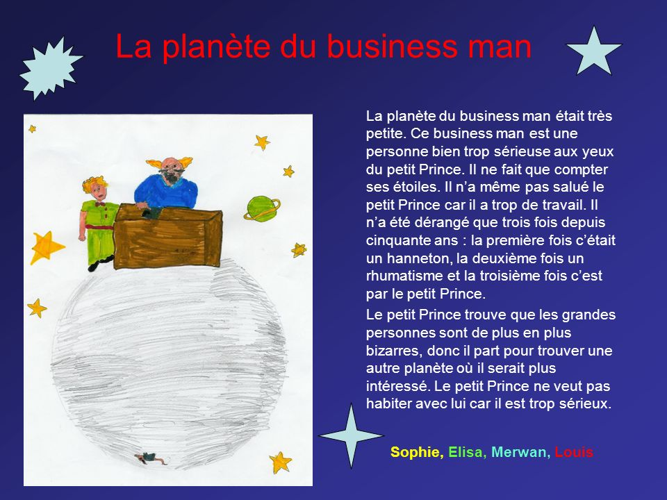 La planète du business man