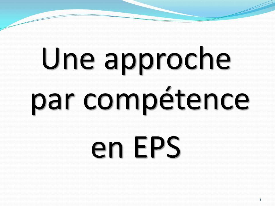 Une approche par compétence en EPS