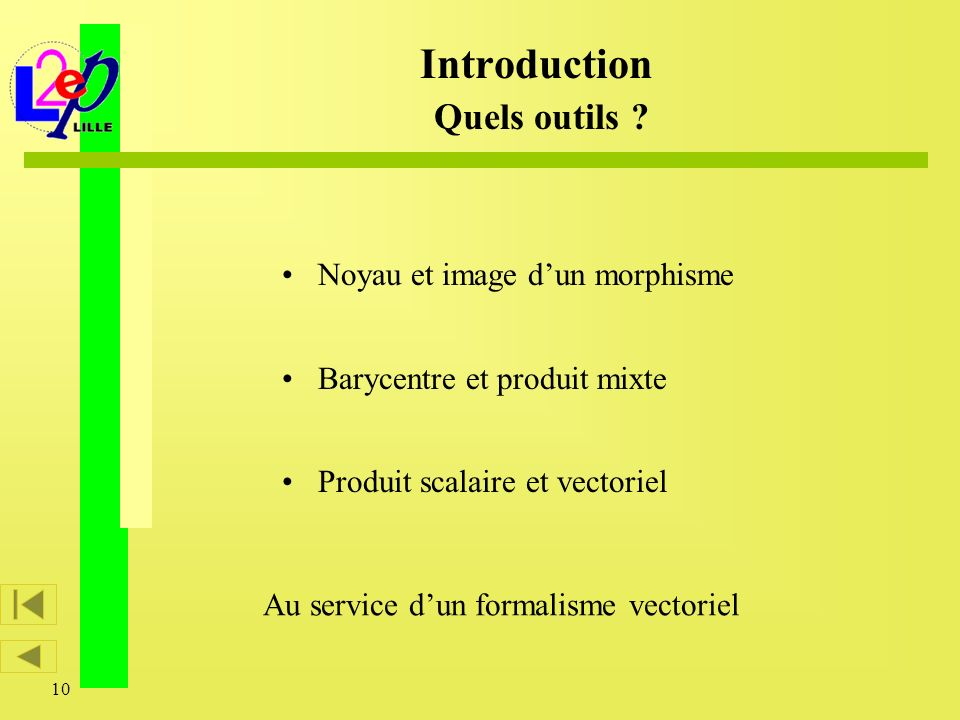 Introduction Quels outils