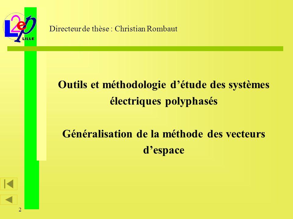 Directeur de thèse : Christian Rombaut