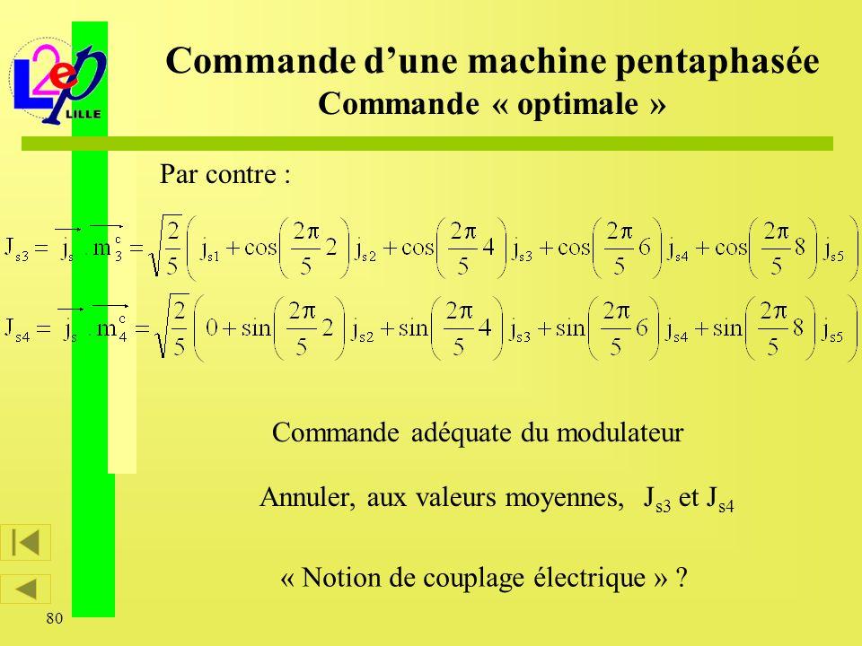 Commande d'une machine pentaphasée Commande « optimale »