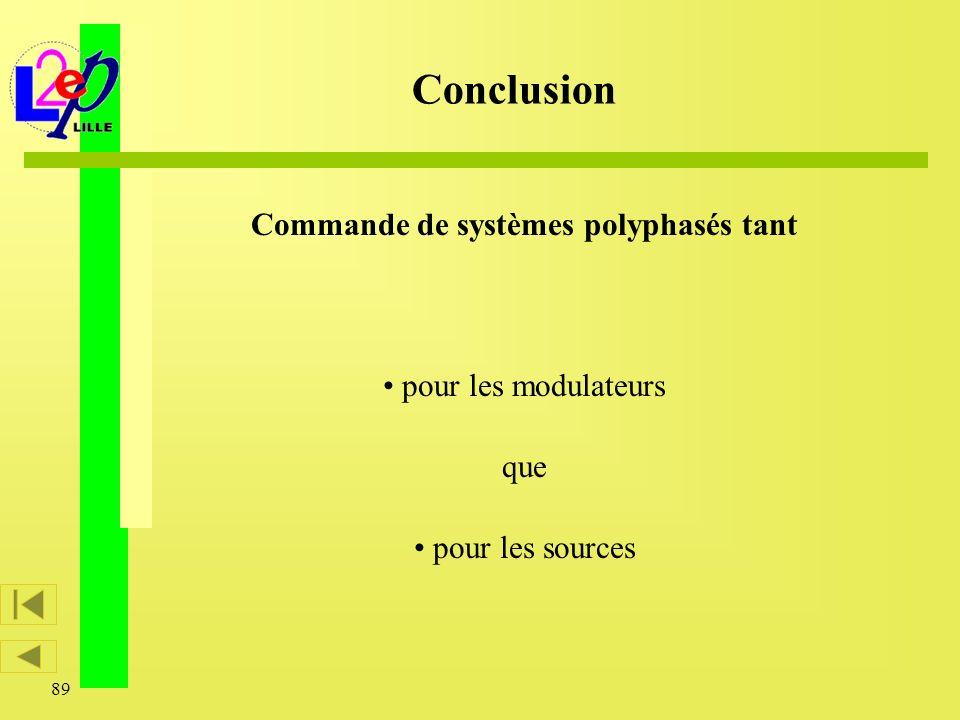 Commande de systèmes polyphasés tant