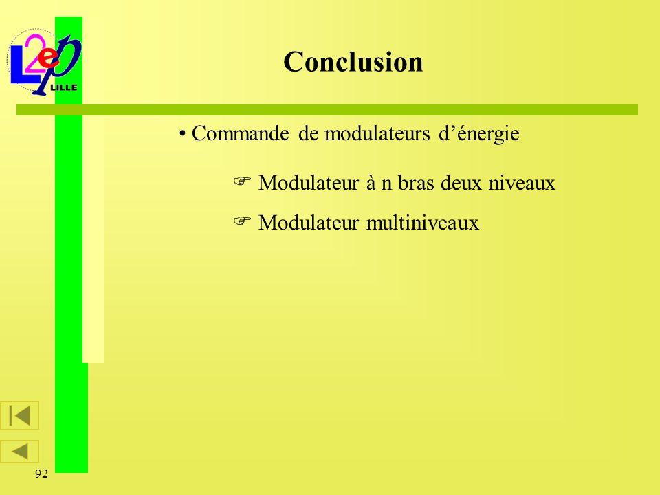 Commande de modulateurs d'énergie