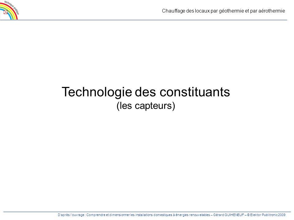 Technologie des constituants (les capteurs)