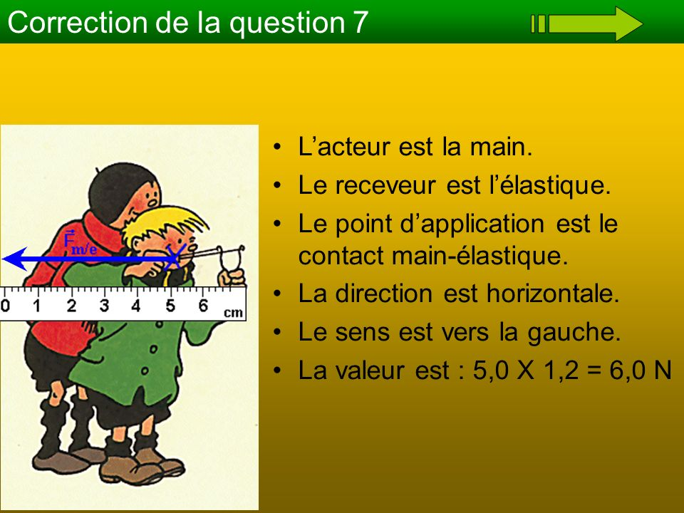 Correction de la question 7