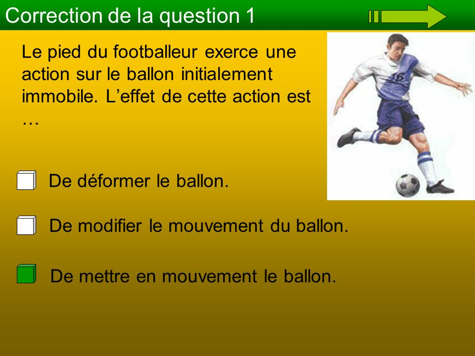 Correction de la question 1