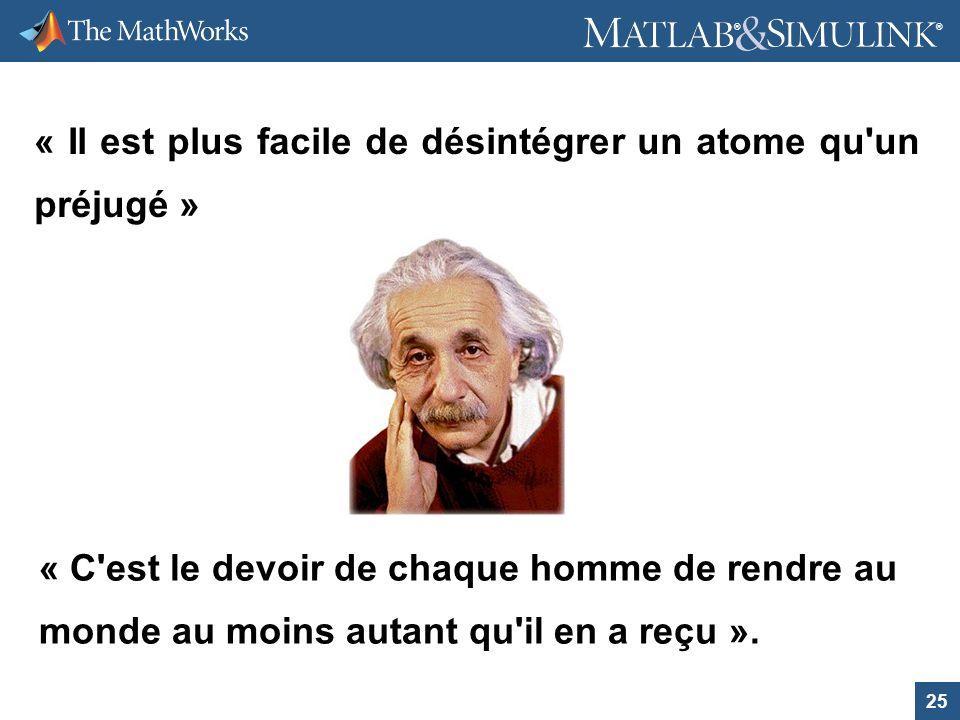 « Il est plus facile de désintégrer un atome qu un préjugé »