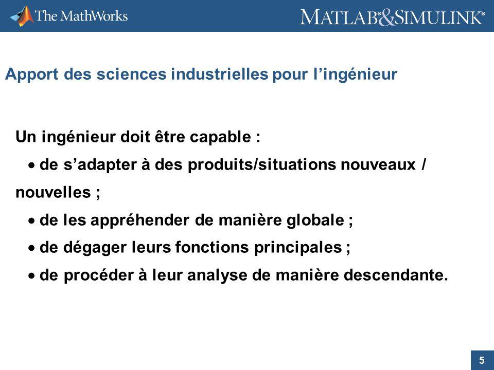 Apport des sciences industrielles pour l'ingénieur