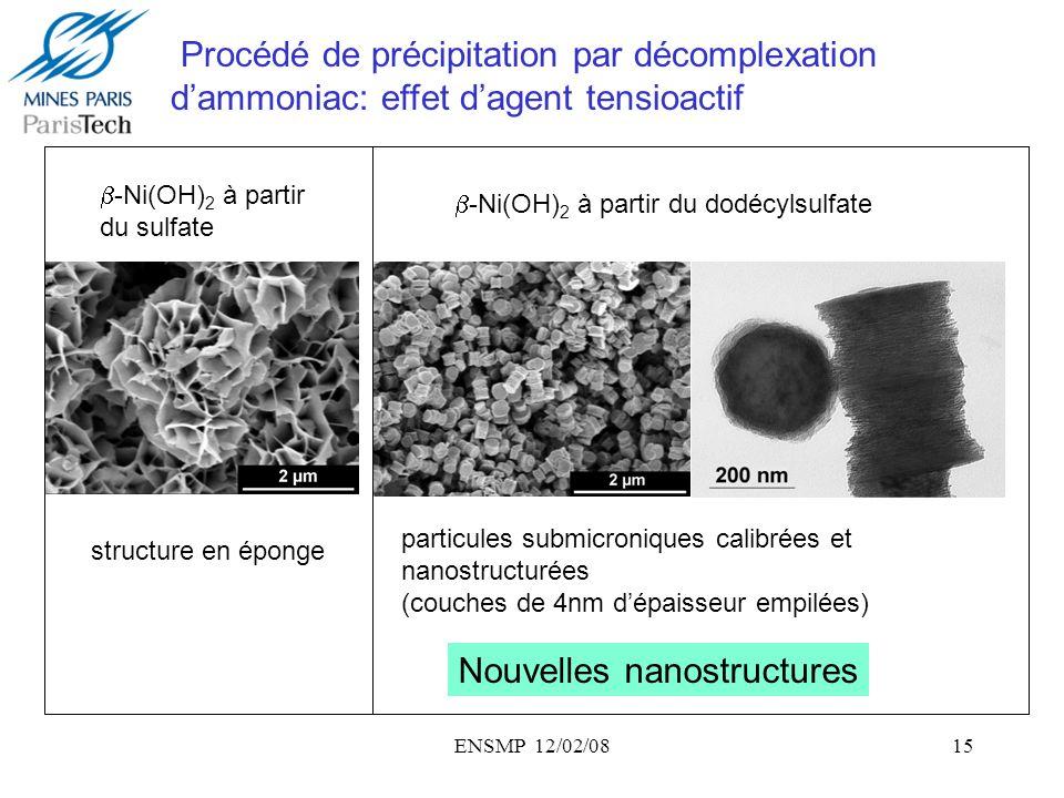 Nouvelles nanostructures