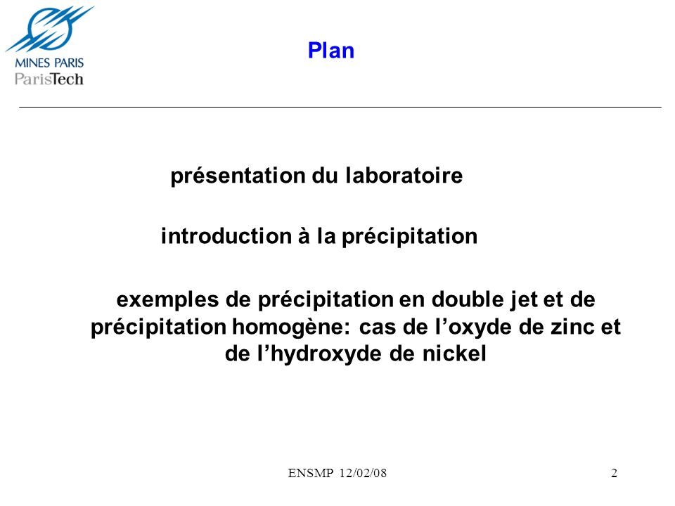 présentation du laboratoire
