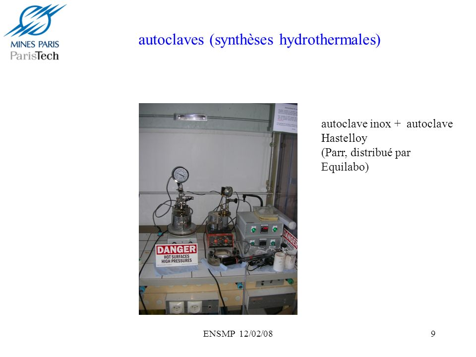 autoclaves (synthèses hydrothermales)