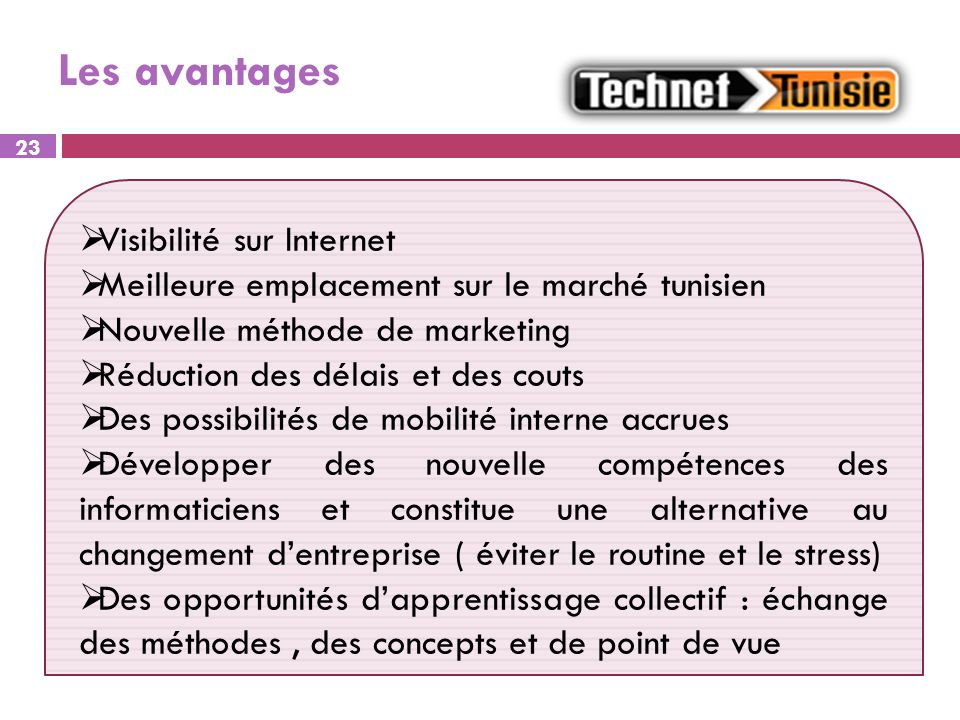 Les avantages Visibilité sur Internet