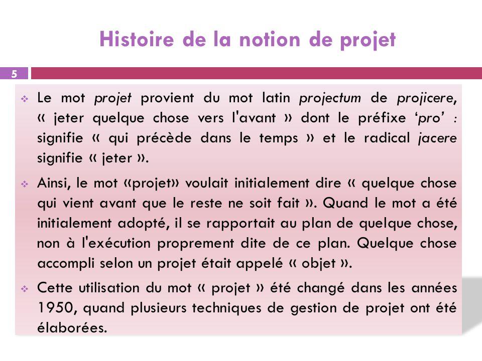 Histoire de la notion de projet