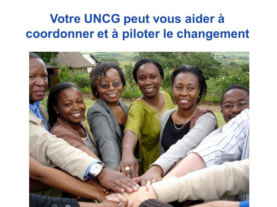 Votre UNCG peut vous aider à coordonner et à piloter le changement