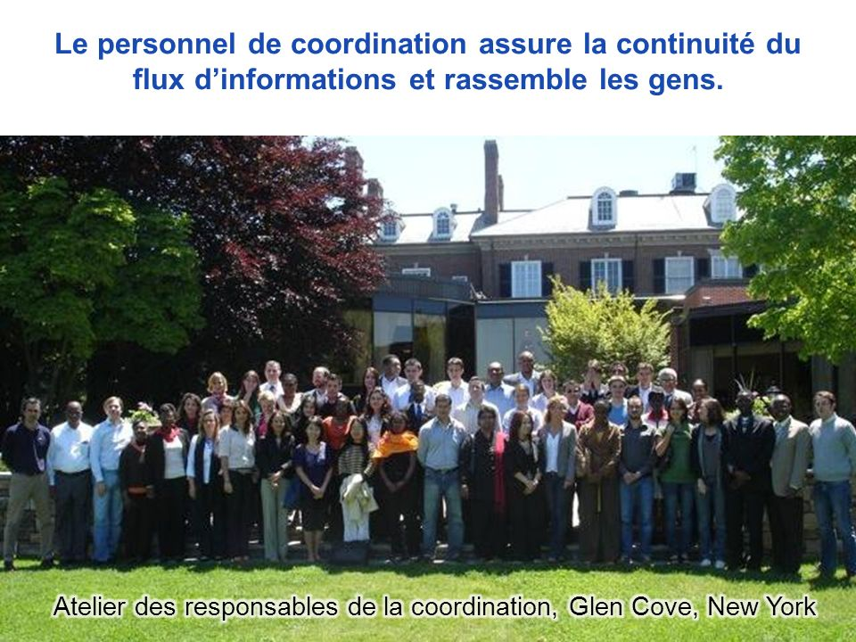 Atelier des responsables de la coordination, Glen Cove, New York