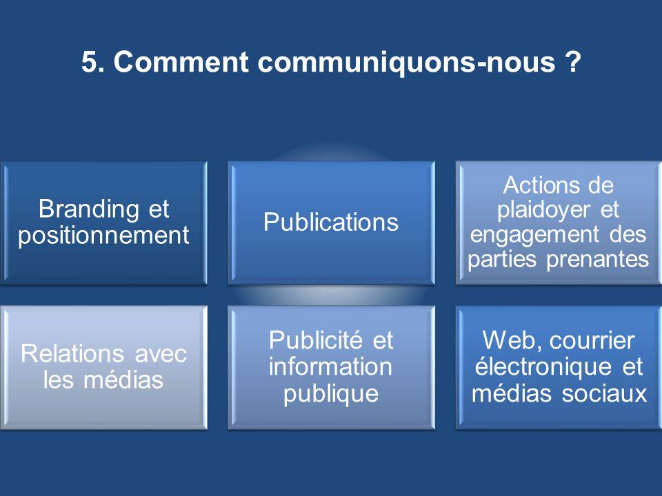 5. Comment communiquons-nous