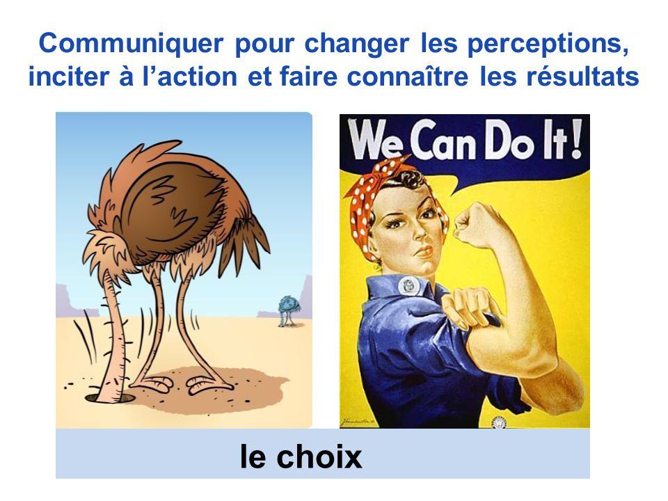 Communiquer pour changer les perceptions, inciter à l'action et faire connaître les résultats