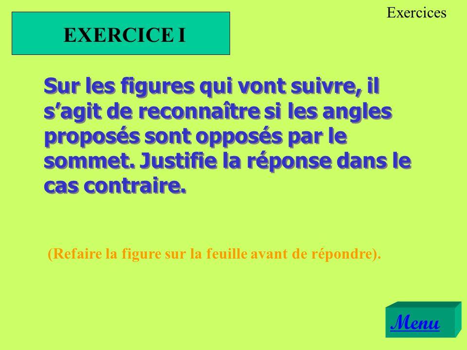 Exercices EXERCICE I.