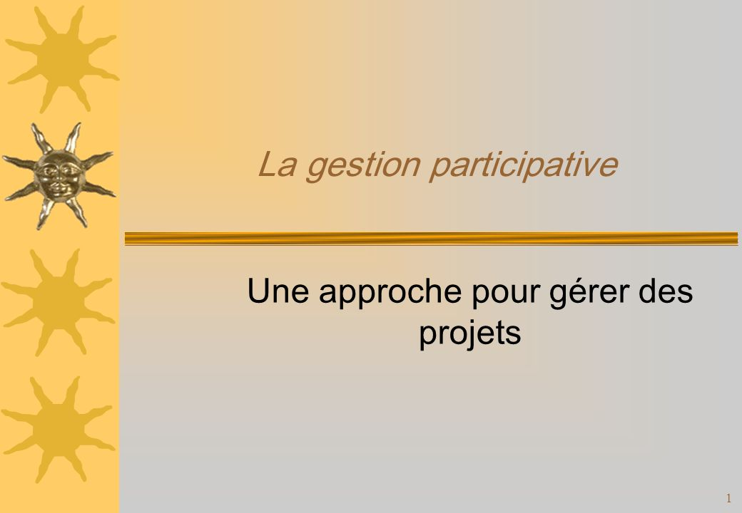 La gestion participative