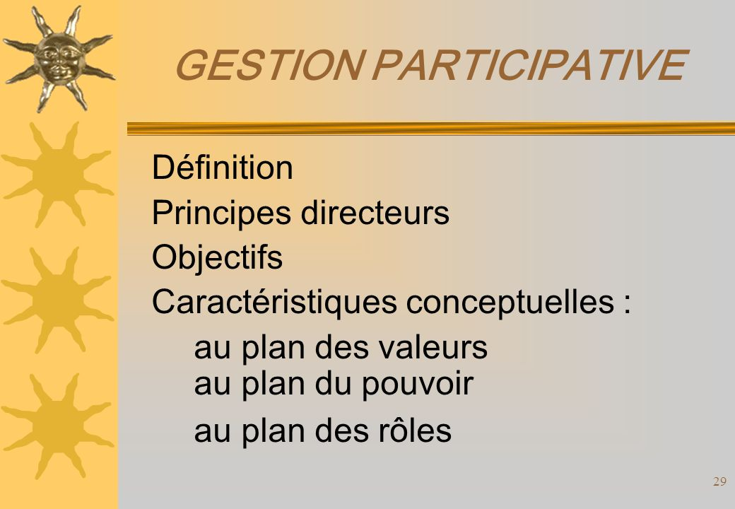 GESTION PARTICIPATIVE