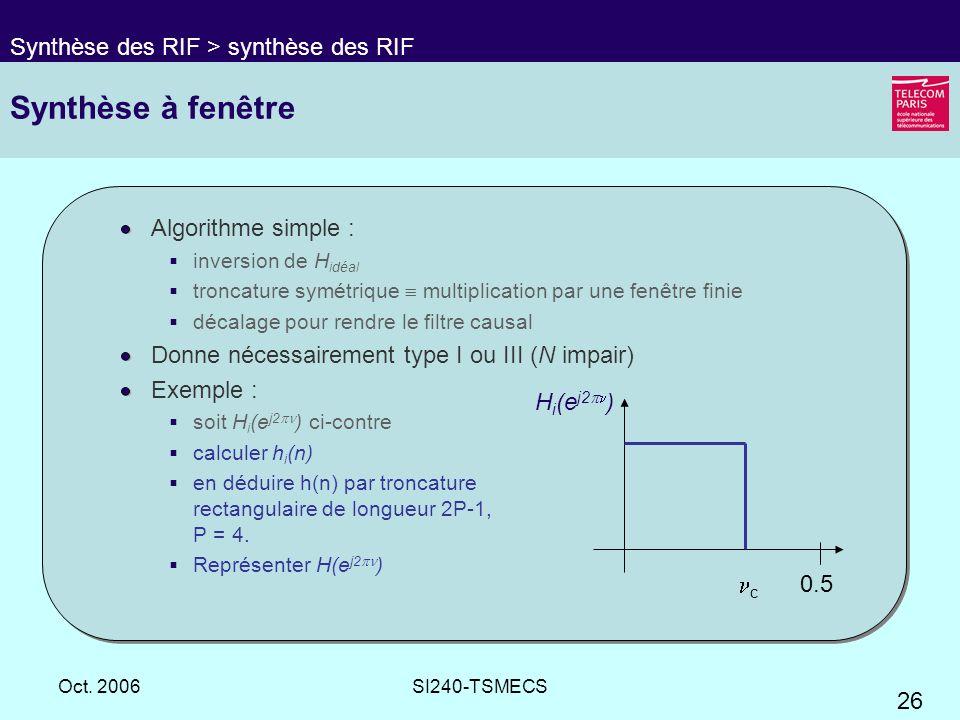 Synthèse à fenêtre Synthèse des RIF > synthèse des RIF