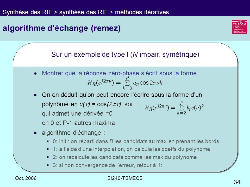 algorithme d'échange (remez)