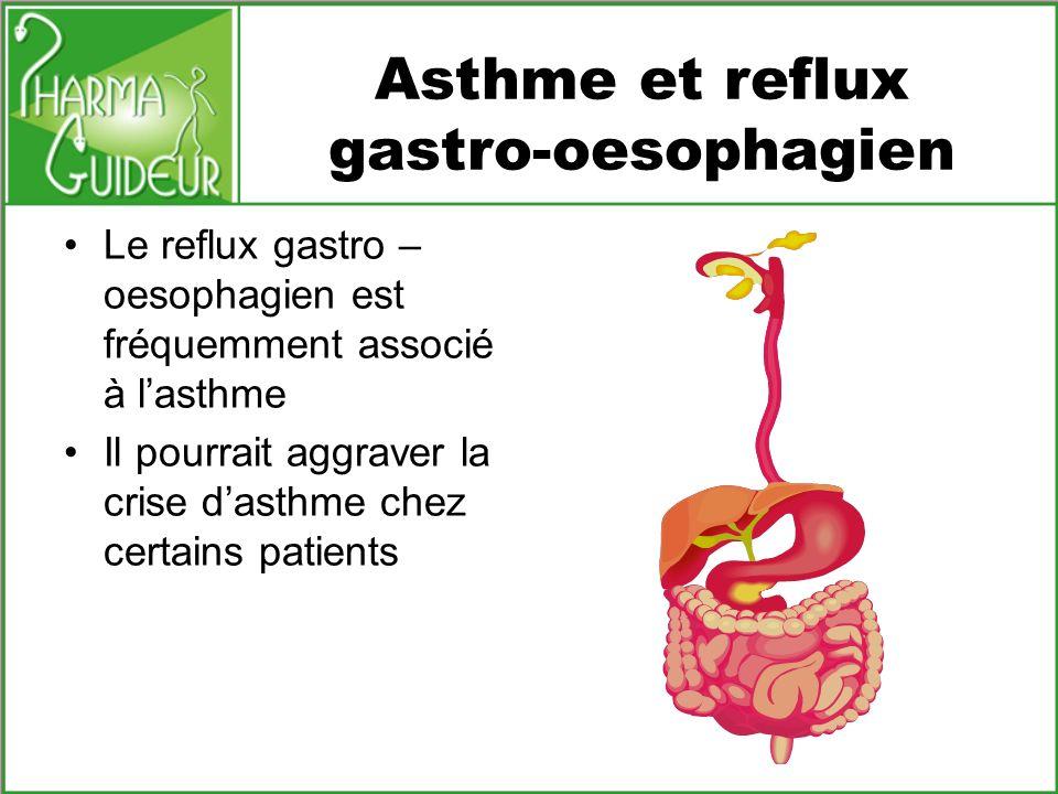Asthme et reflux gastro-oesophagien