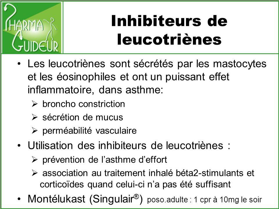 Inhibiteurs de leucotriènes