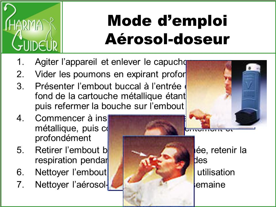 Mode d'emploi Aérosol-doseur