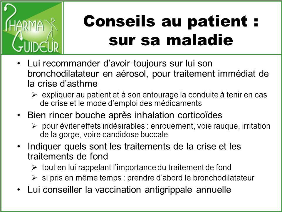 Conseils au patient : sur sa maladie