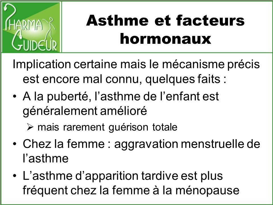 Asthme et facteurs hormonaux
