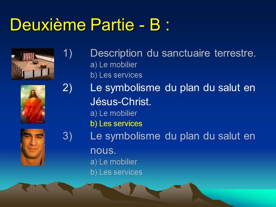 Deuxième Partie - B : 1) Description du sanctuaire terrestre.