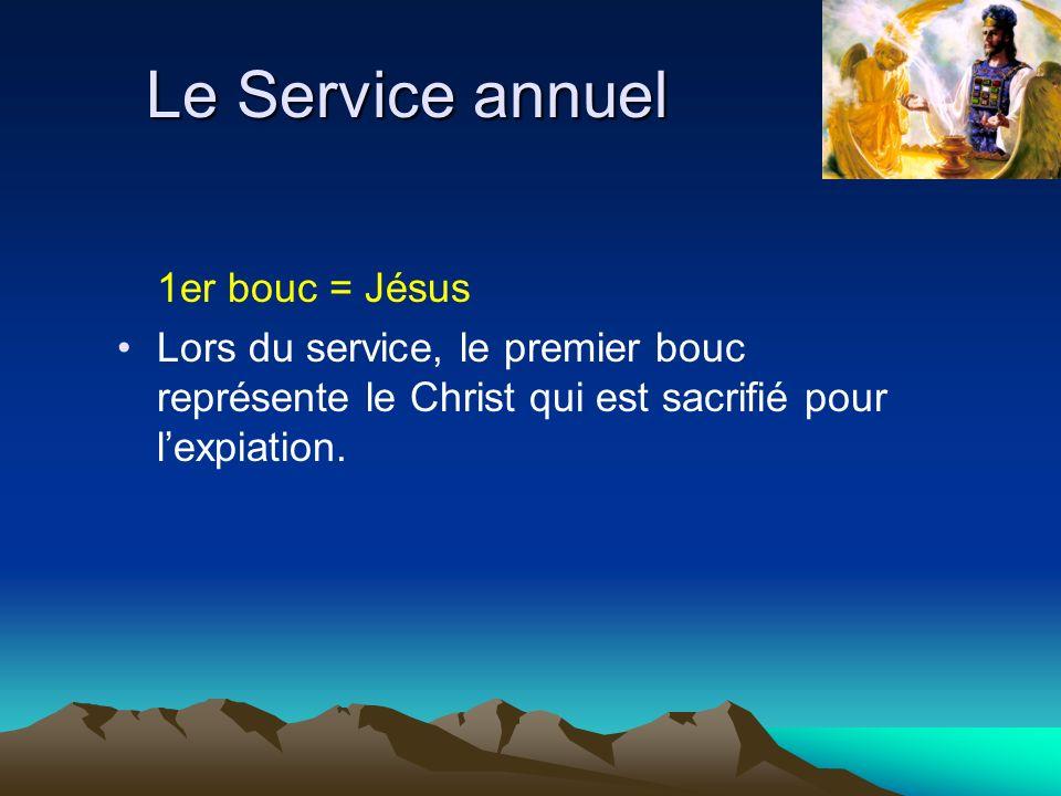 Le Service annuel 1er bouc = Jésus