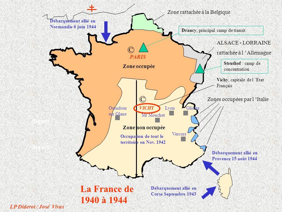 © © La France de 1940 à 1944 cliquez cliquez