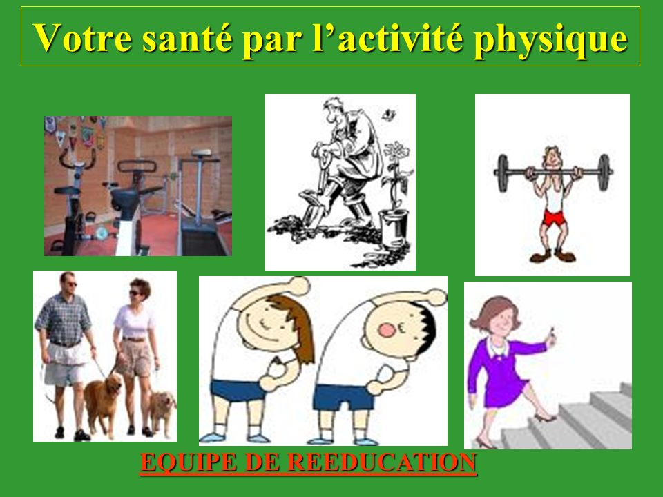 Votre santé par l'activité physique
