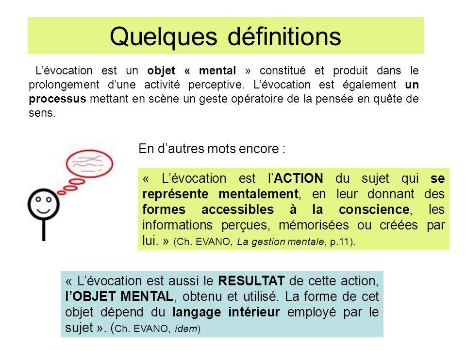 Quelques définitions En d'autres mots encore :