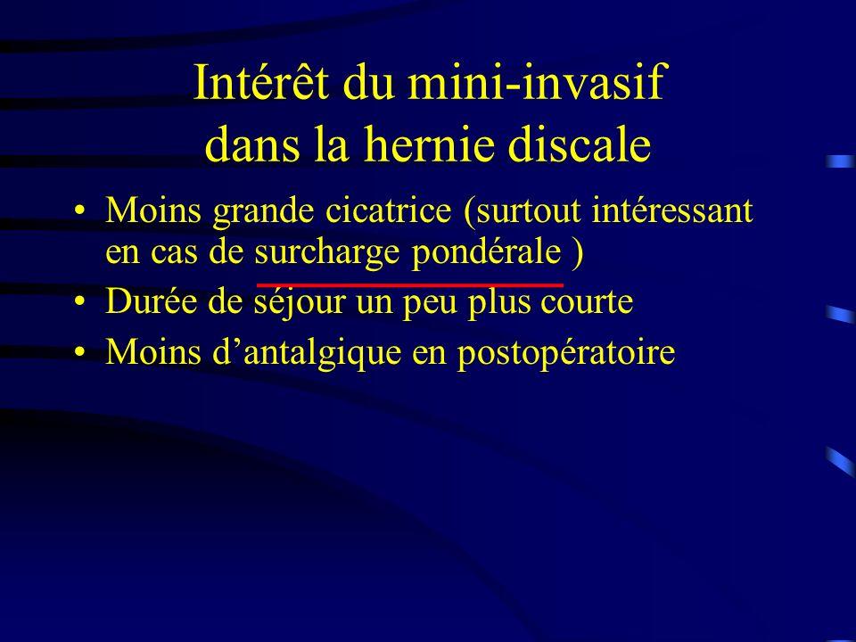 Intérêt du mini-invasif dans la hernie discale