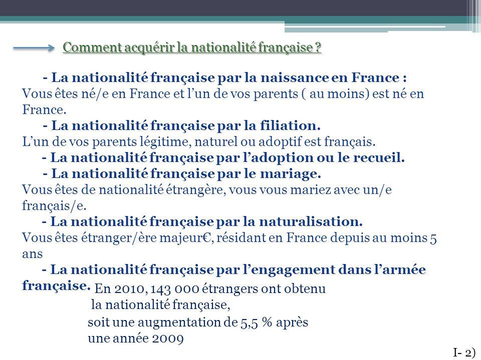 Comment acquérir la nationalité française