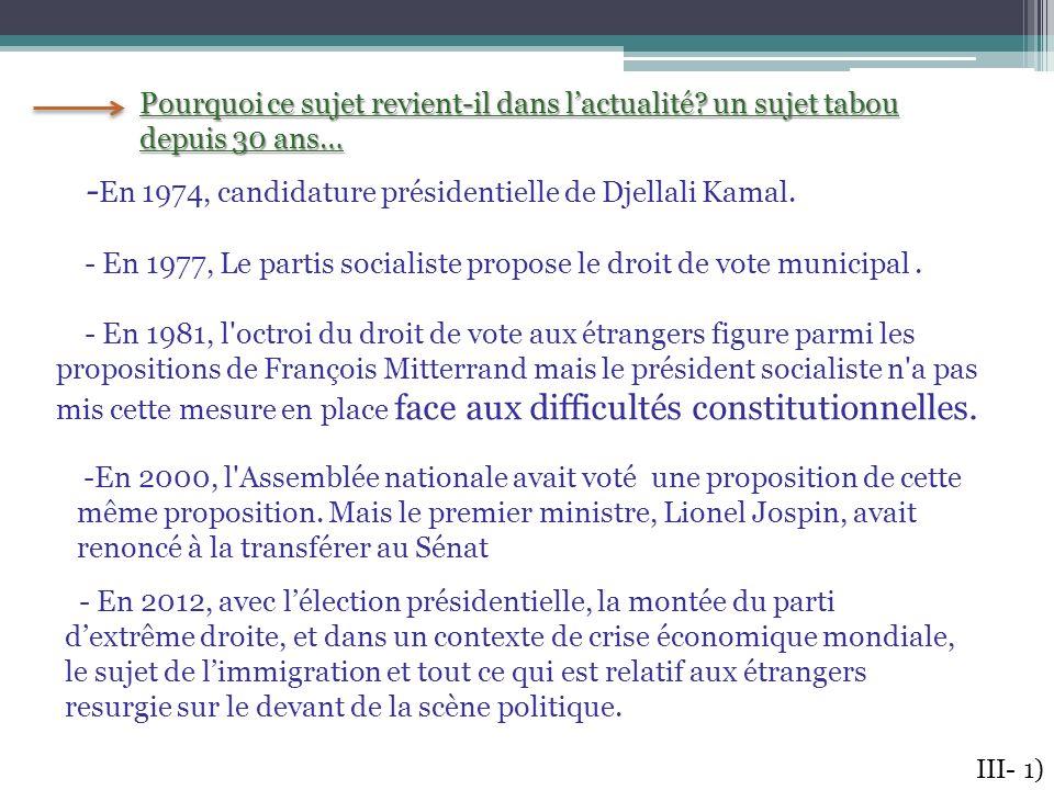 -En 1974, candidature présidentielle de Djellali Kamal.