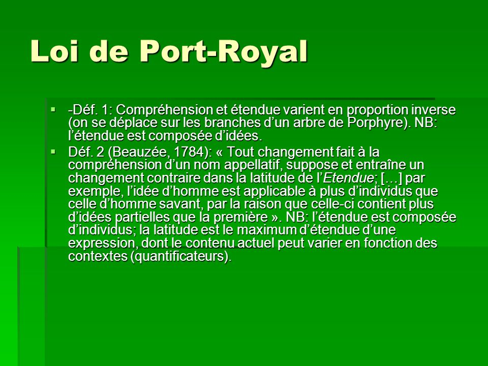 Loi de Port-Royal