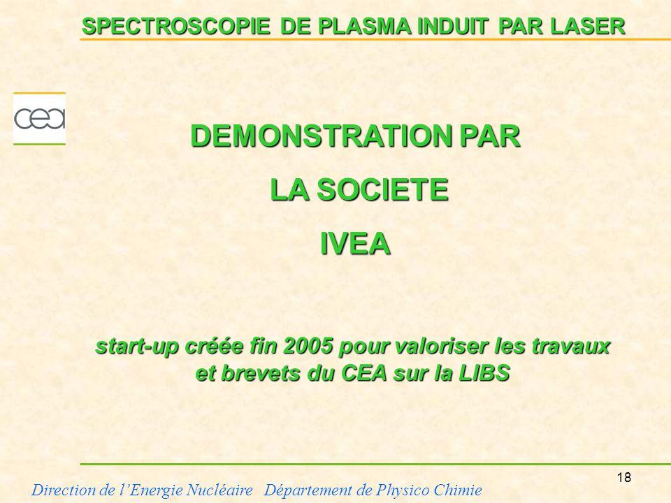 DEMONSTRATION PAR LA SOCIETE IVEA