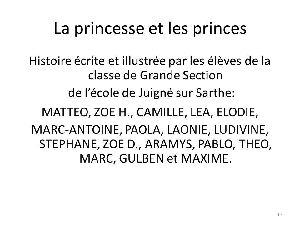 La princesse et les princes
