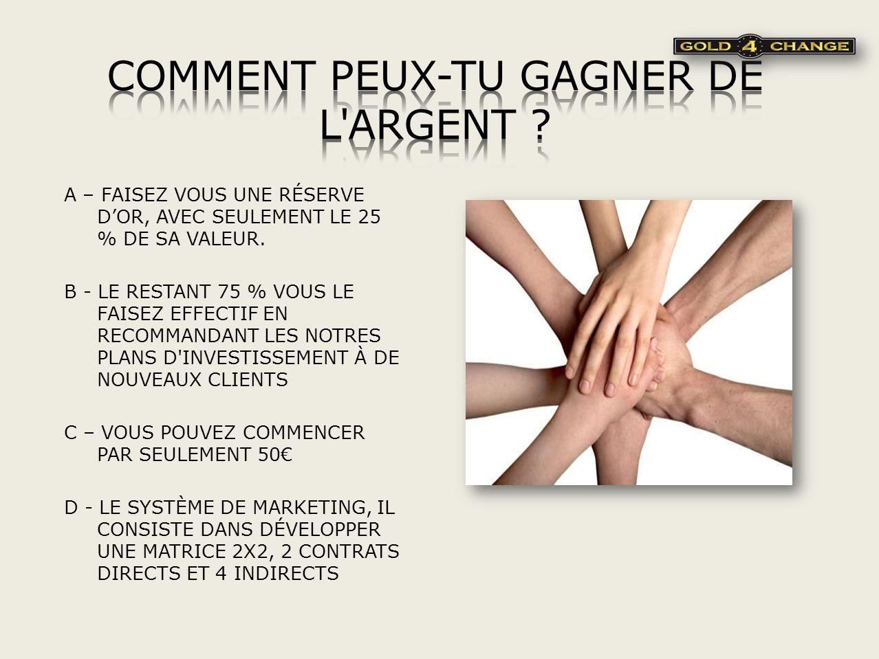 COMMENT PEUX-TU GAGNER DE L ARGENT