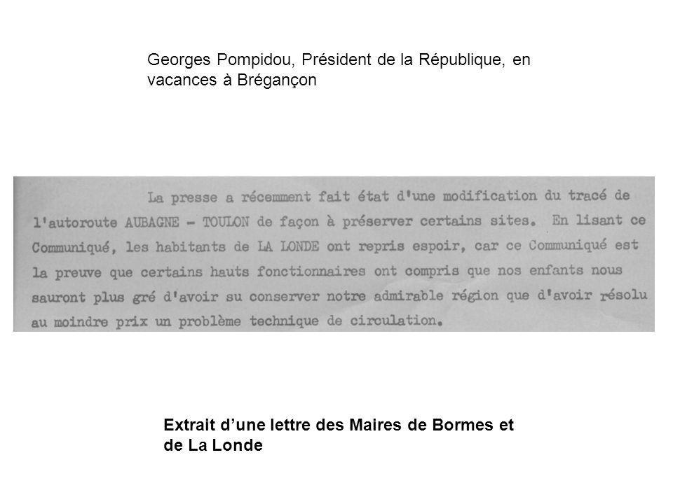 Georges Pompidou, Président de la République, en vacances à Brégançon