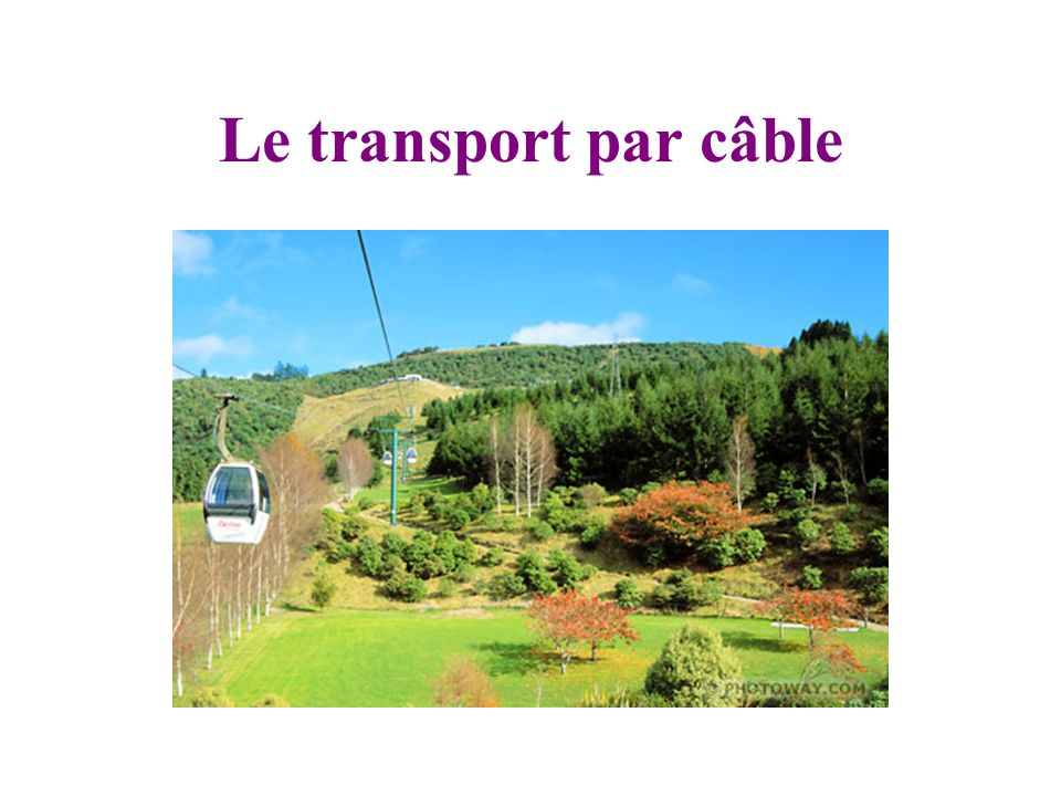 Le transport par câble
